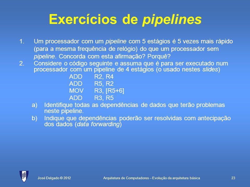 Exercícios de pipelines