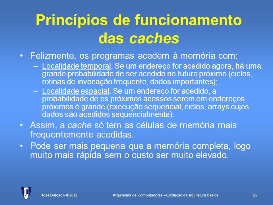Princípios de funcionamento das caches