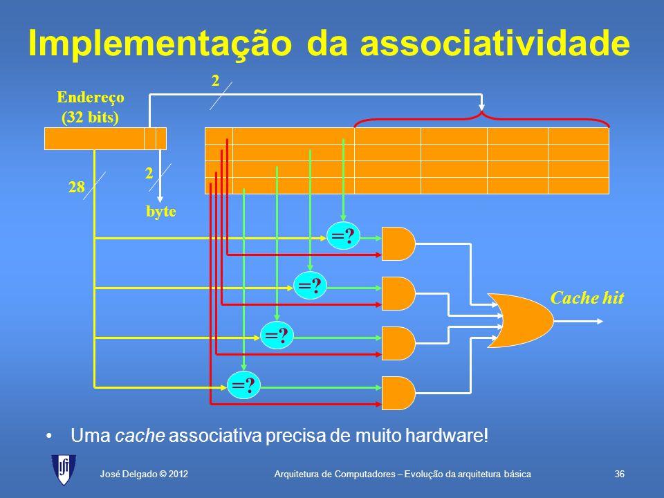Implementação da associatividade