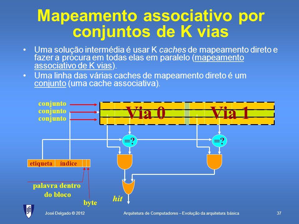 Mapeamento associativo por conjuntos de K vias