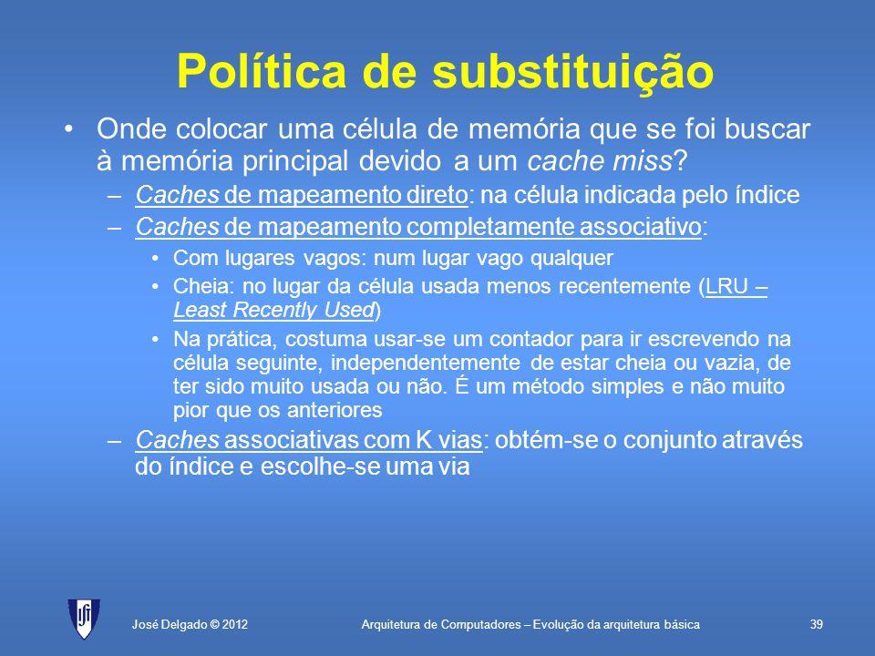 Política de substituição