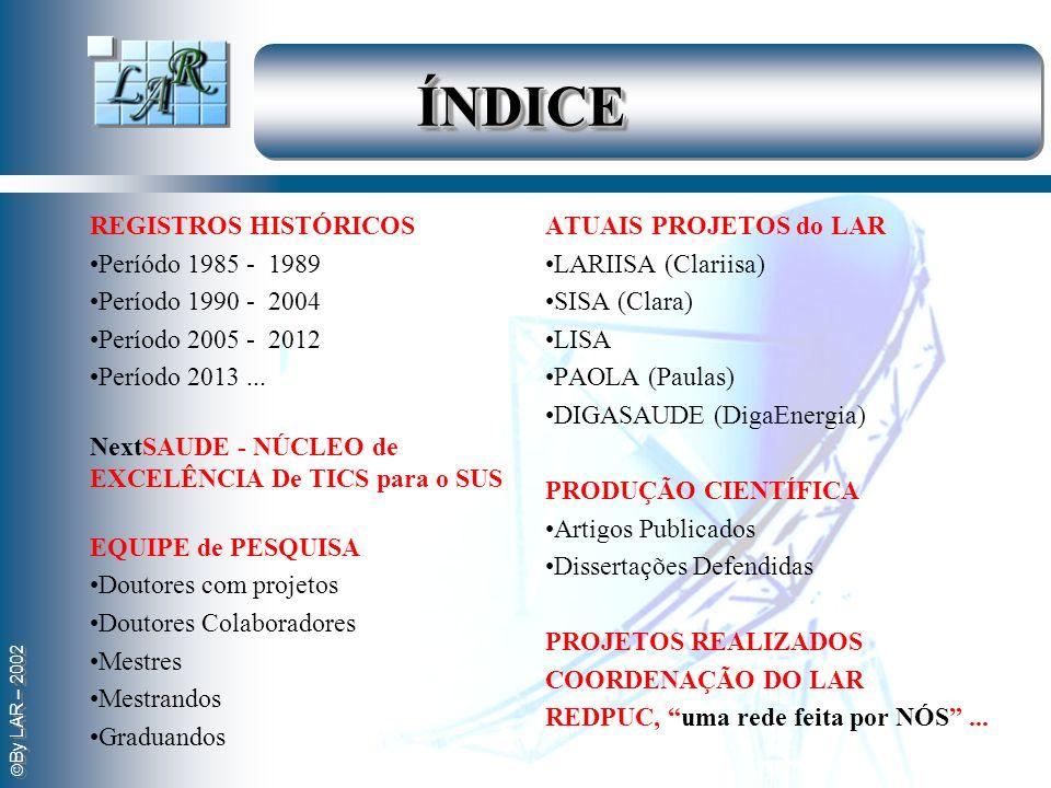 ÍNDICE . REGISTROS HISTÓRICOS Períódo 1985 - 1989 Período 1990 - 2004