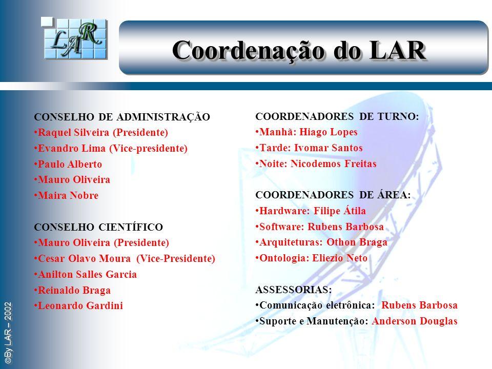 Coordenação do LAR CONSELHO DE ADMINISTRAÇÃO COORDENADORES DE TURNO: