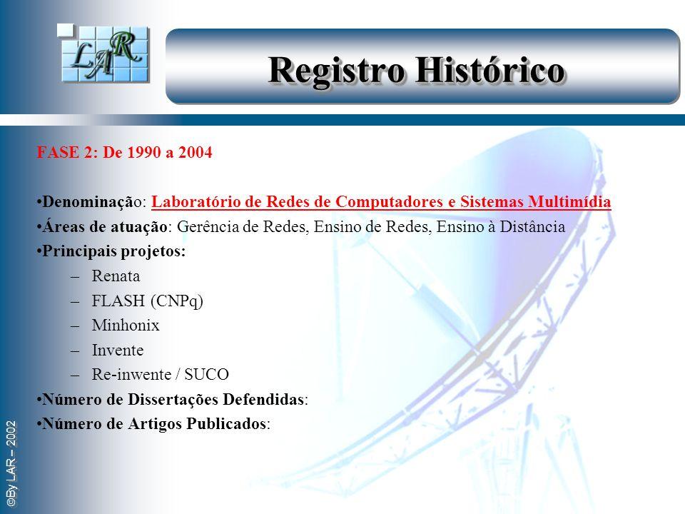 Registro Histórico . FASE 2: De 1990 a 2004