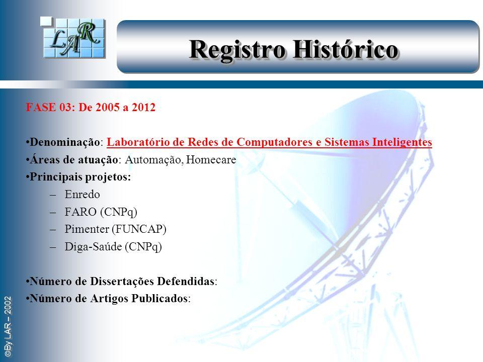 Registro Histórico . FASE 03: De 2005 a 2012
