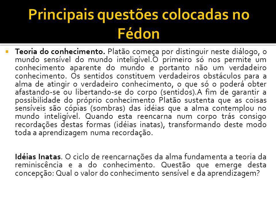 Principais questões colocadas no Fédon