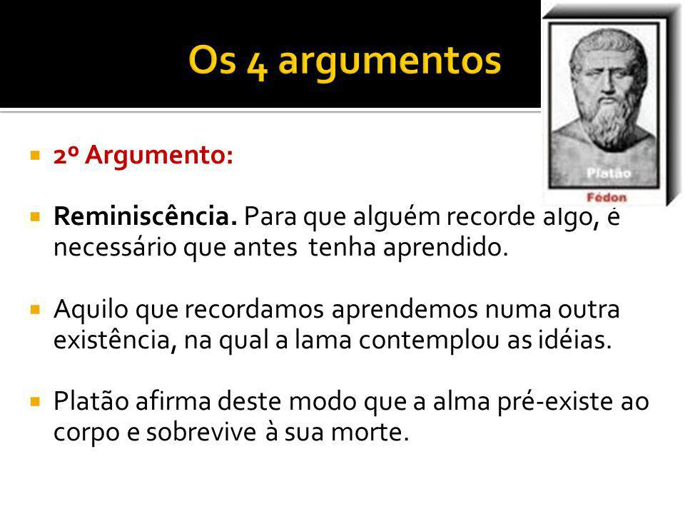 Os 4 argumentos 2º Argumento: