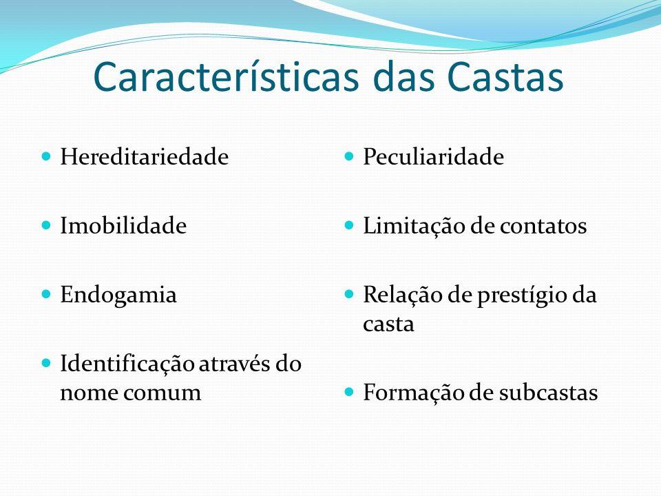 Características das Castas