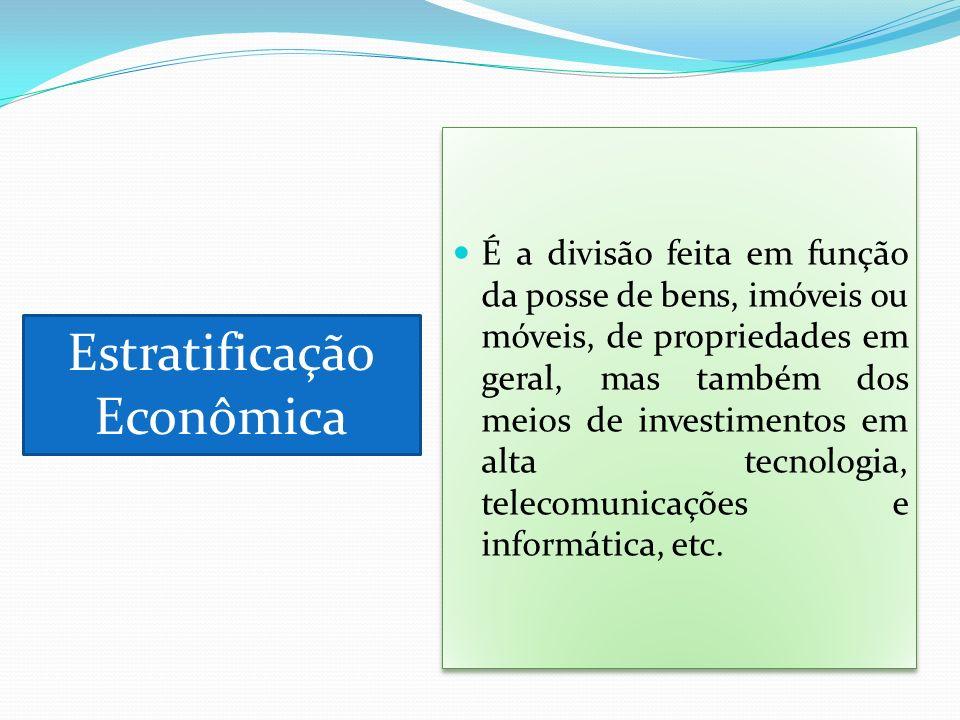 Estratificação Econômica