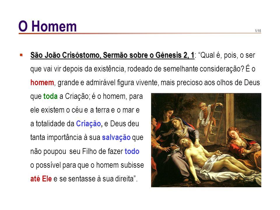 O Homem São João Crisóstomo, Sermão sobre o Génesis 2, 1: Qual é, pois, o ser.