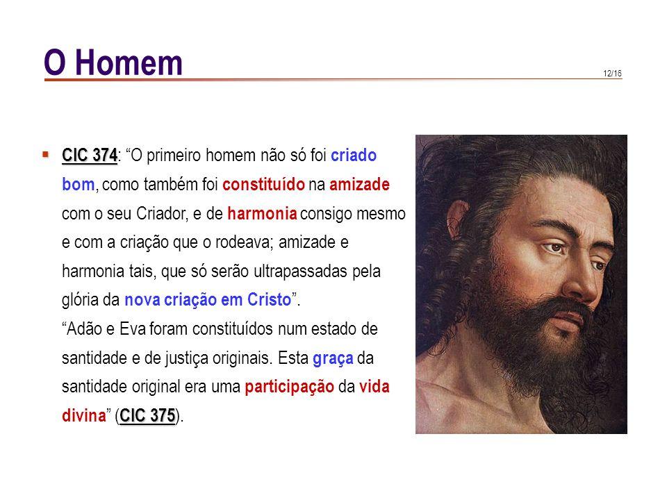 O Homem CIC 374: O primeiro homem não só foi criado