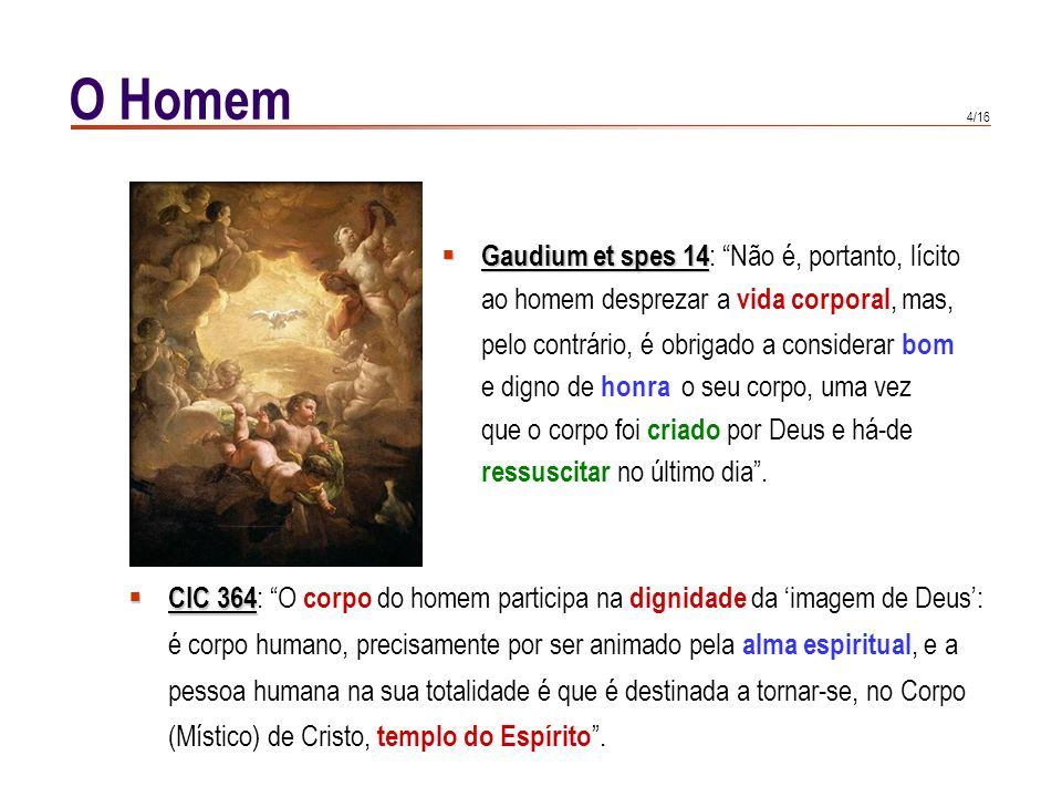 O Homem Gaudium et spes 14: Não é, portanto, lícito