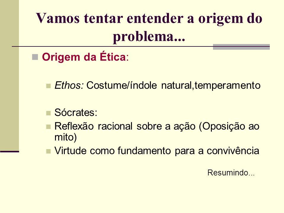 Vamos tentar entender a origem do problema...