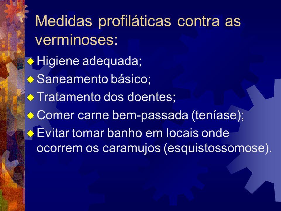 Medidas profiláticas contra as verminoses: