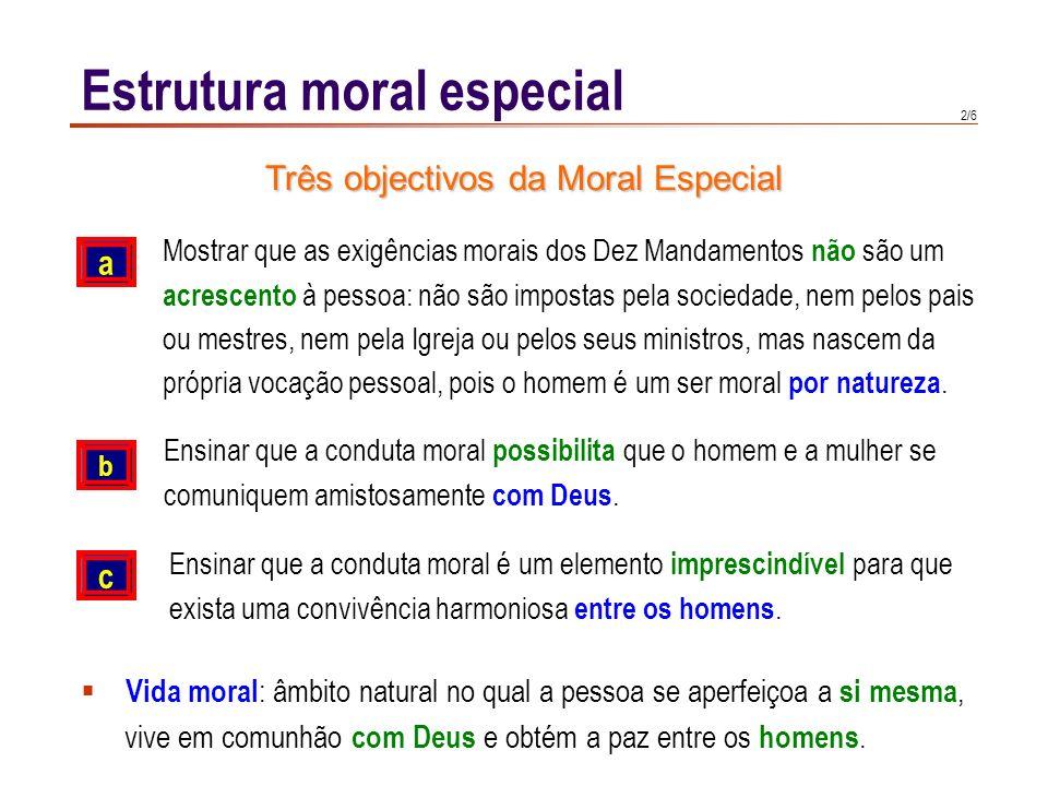 Três objectivos da Moral Especial