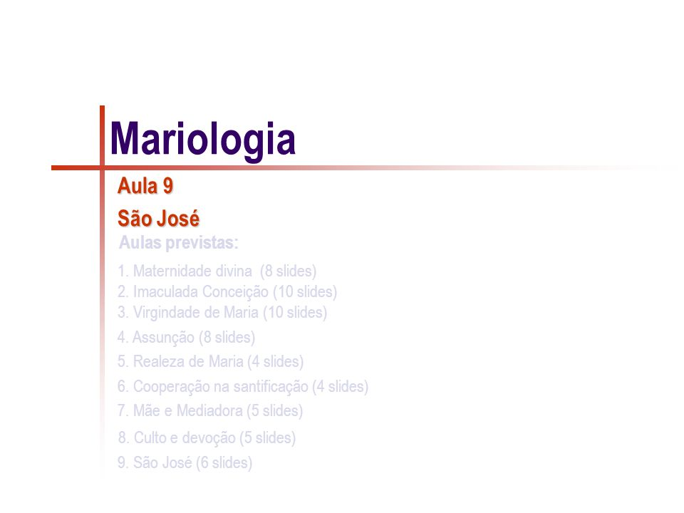 Mariologia Aula 9 São José