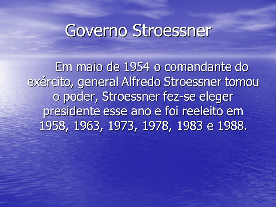 Governo Stroessner