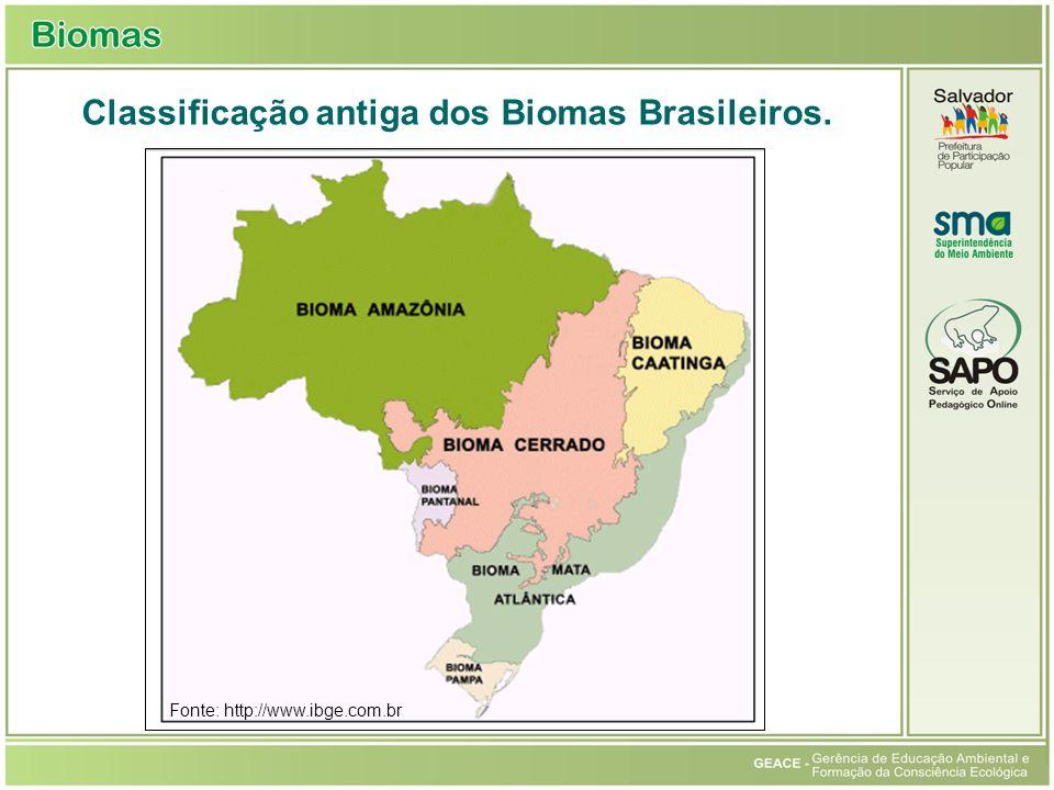 Classificação antiga dos Biomas Brasileiros