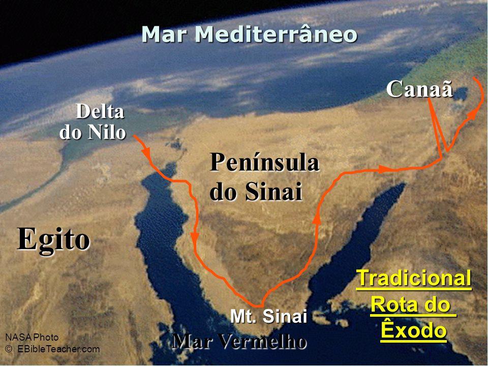 Egito Península do Sinai Canaã Mar Mediterrâneo Delta do Nilo