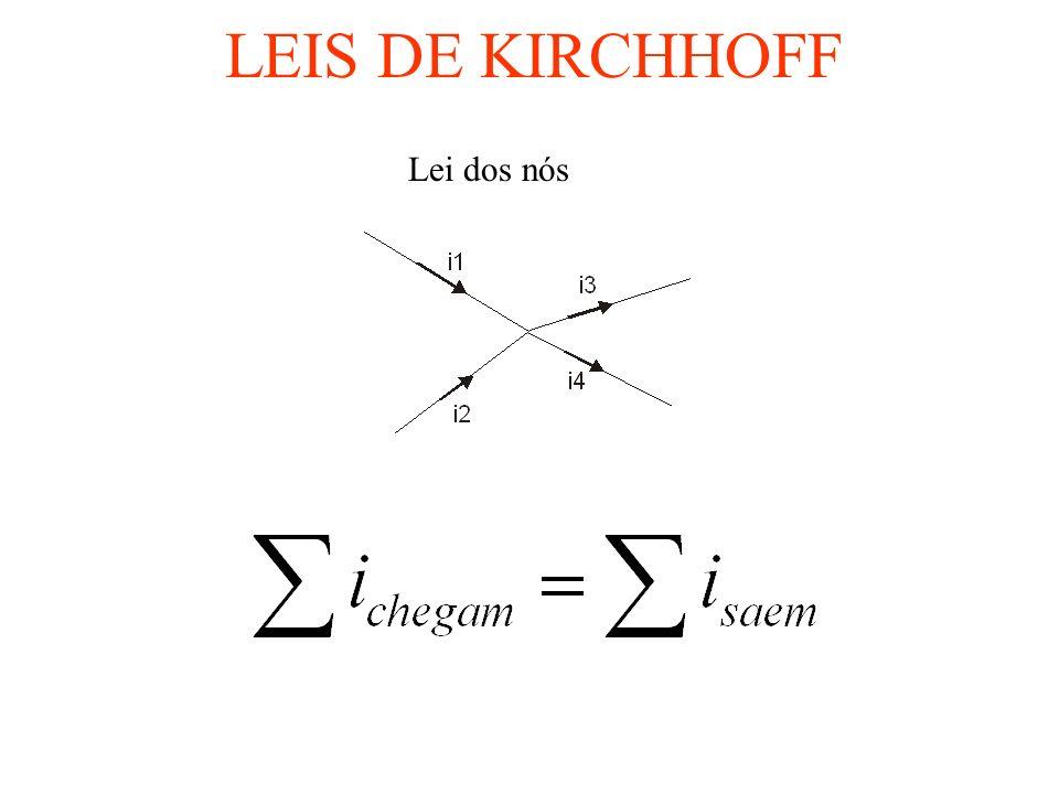 LEIS DE KIRCHHOFF Lei dos nós