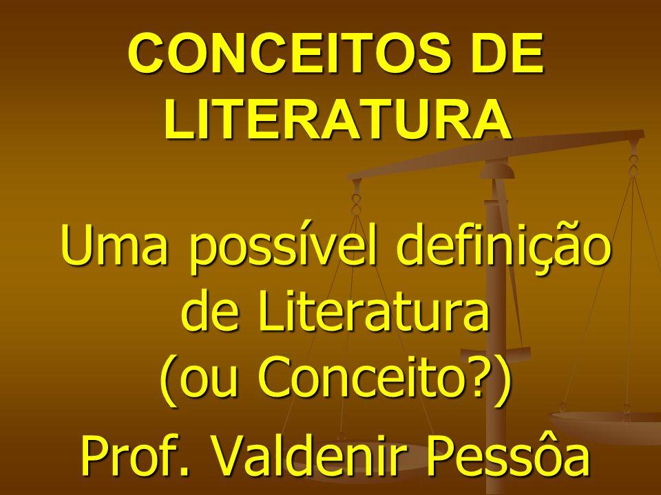 CONCEITOS DE LITERATURA
