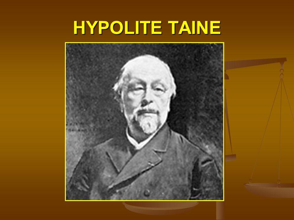 HYPOLITE TAINE