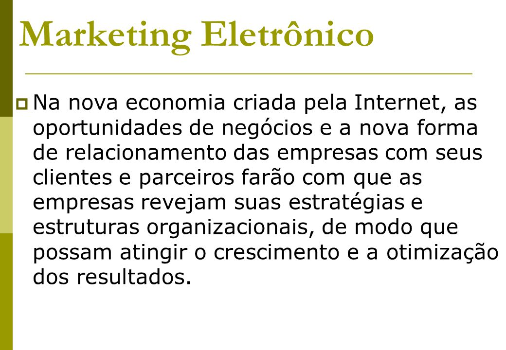 Marketing Eletrônico