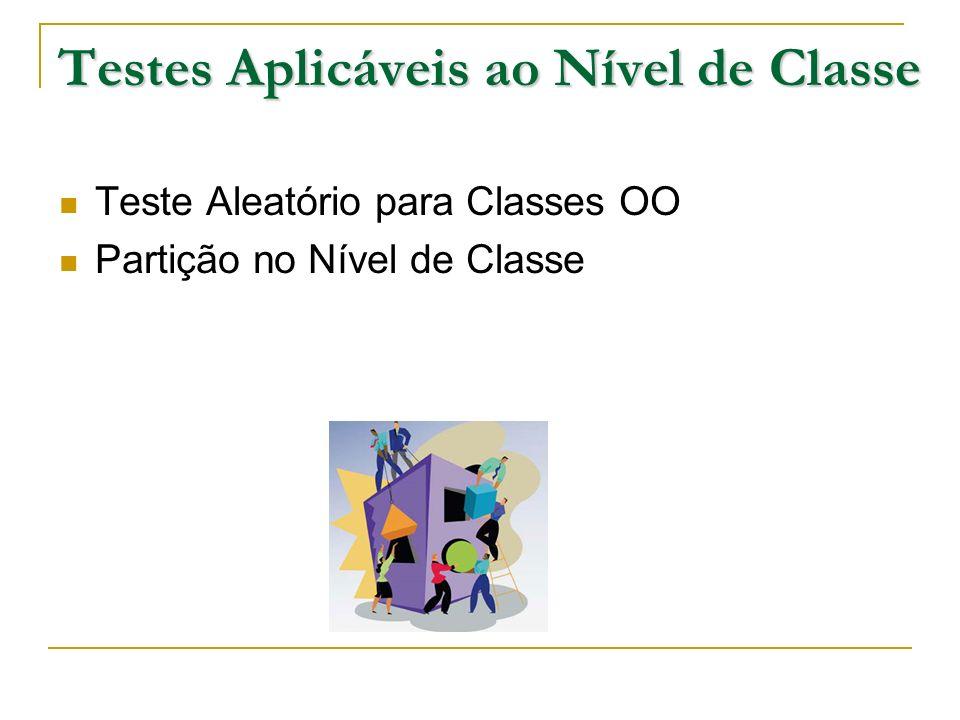 Testes Aplicáveis ao Nível de Classe