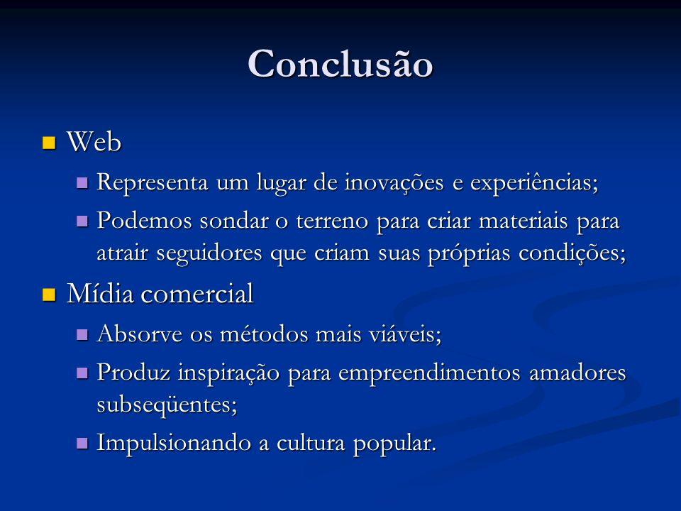 Conclusão Web Mídia comercial