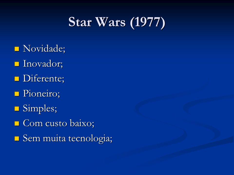 Star Wars (1977) Novidade; Inovador; Diferente; Pioneiro; Simples;
