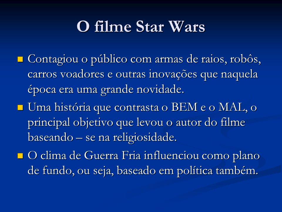 O filme Star Wars Contagiou o público com armas de raios, robôs, carros voadores e outras inovações que naquela época era uma grande novidade.