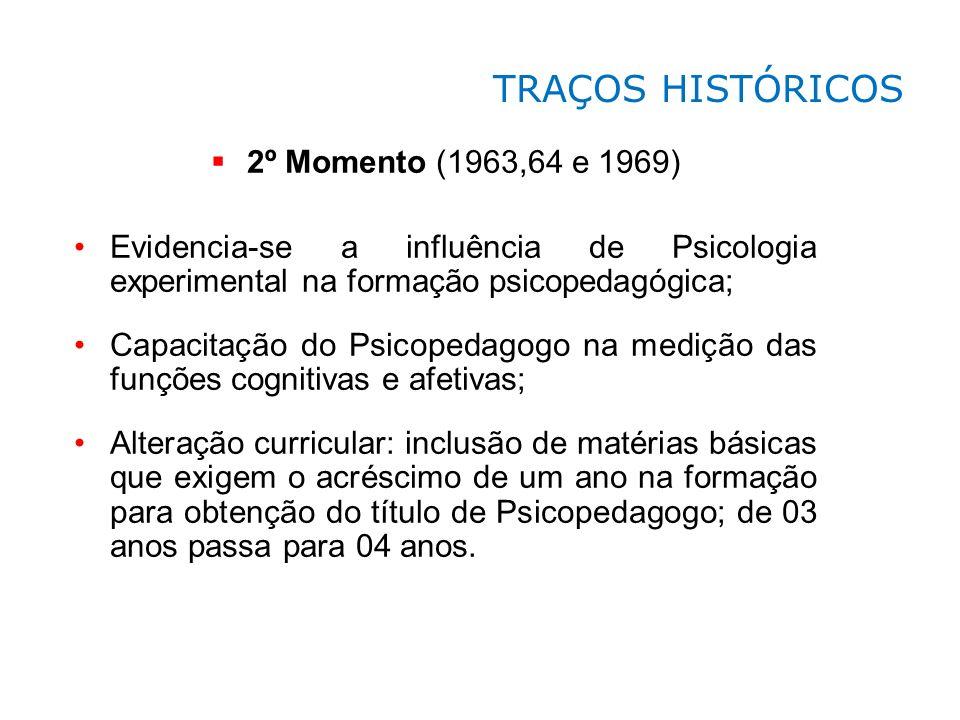 TRAÇOS HISTÓRICOS 2º Momento (1963,64 e 1969)
