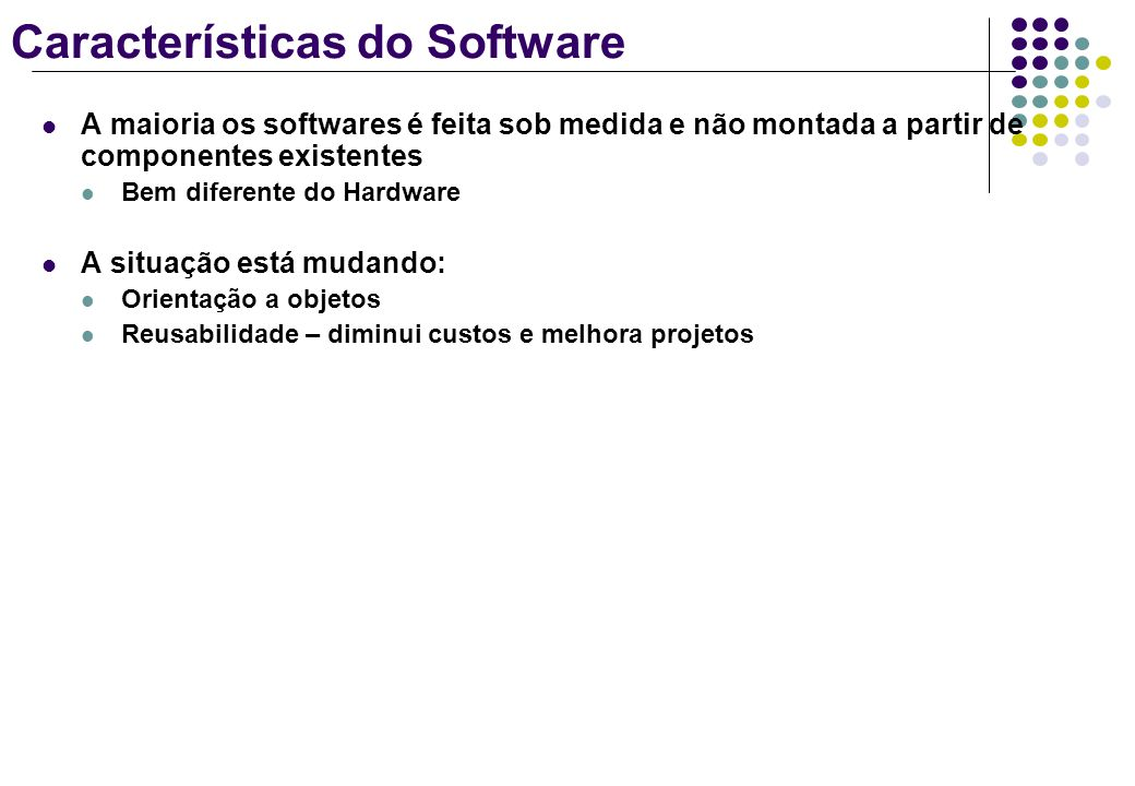 Características do Software