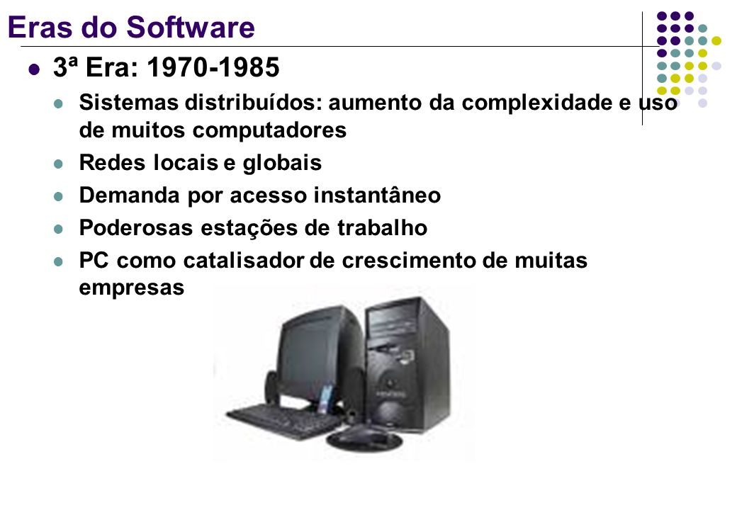 Eras do Software 3ª Era: 1970-1985