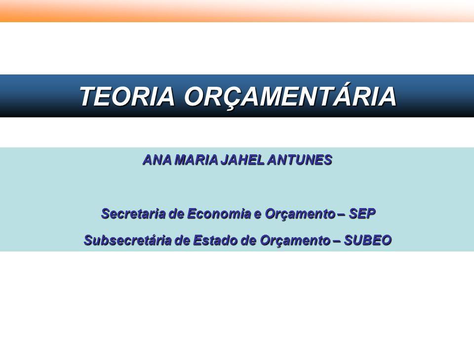 TEORIA ORÇAMENTÁRIA ANA MARIA JAHEL ANTUNES
