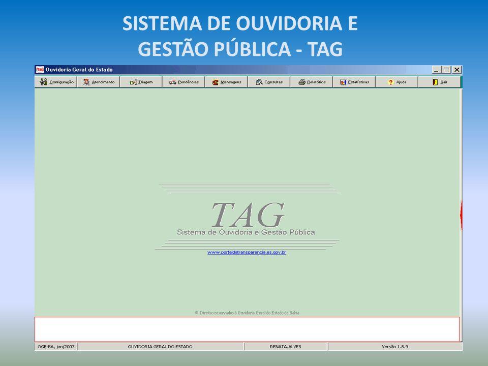 SISTEMA DE OUVIDORIA E GESTÃO PÚBLICA - TAG