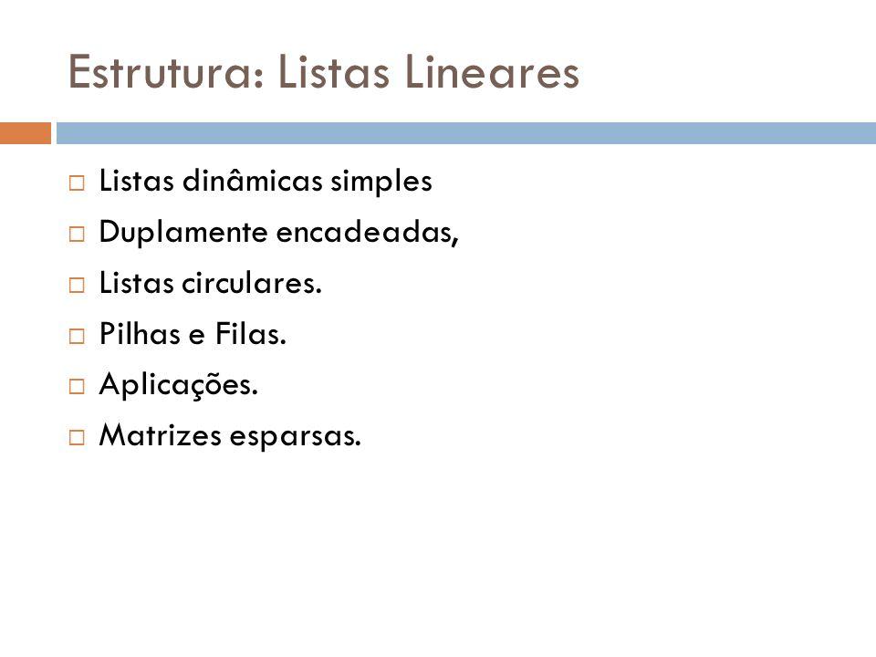 Estrutura: Listas Lineares