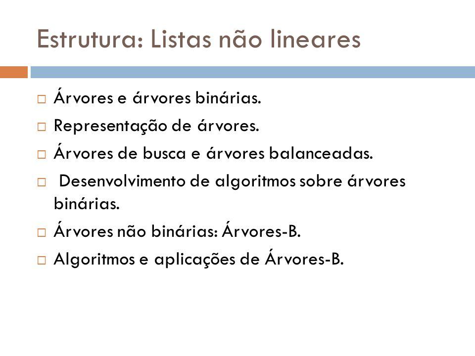 Estrutura: Listas não lineares