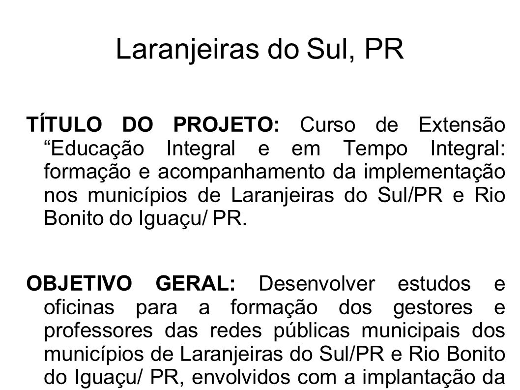 Laranjeiras do Sul, PR