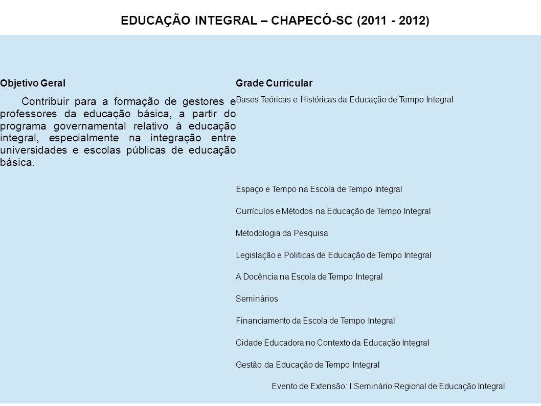Evento de Extensão: I Seminário Regional de Educação Integral