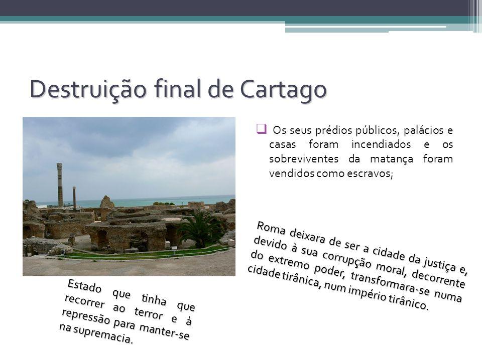 Destruição final de Cartago