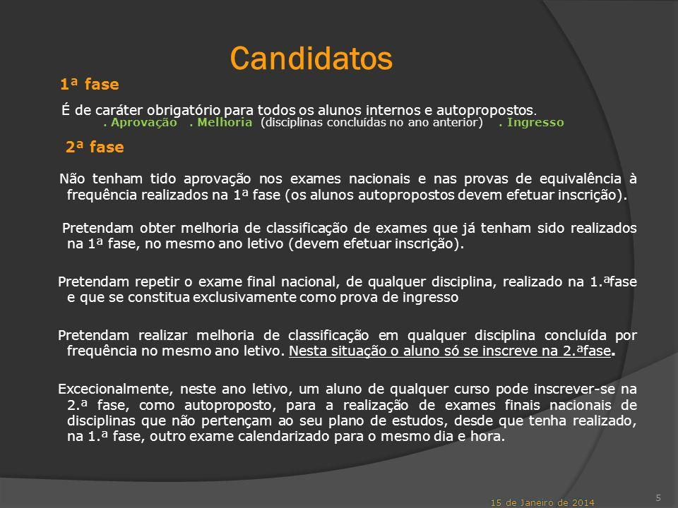 Candidatos 1ª fase 2ª fase