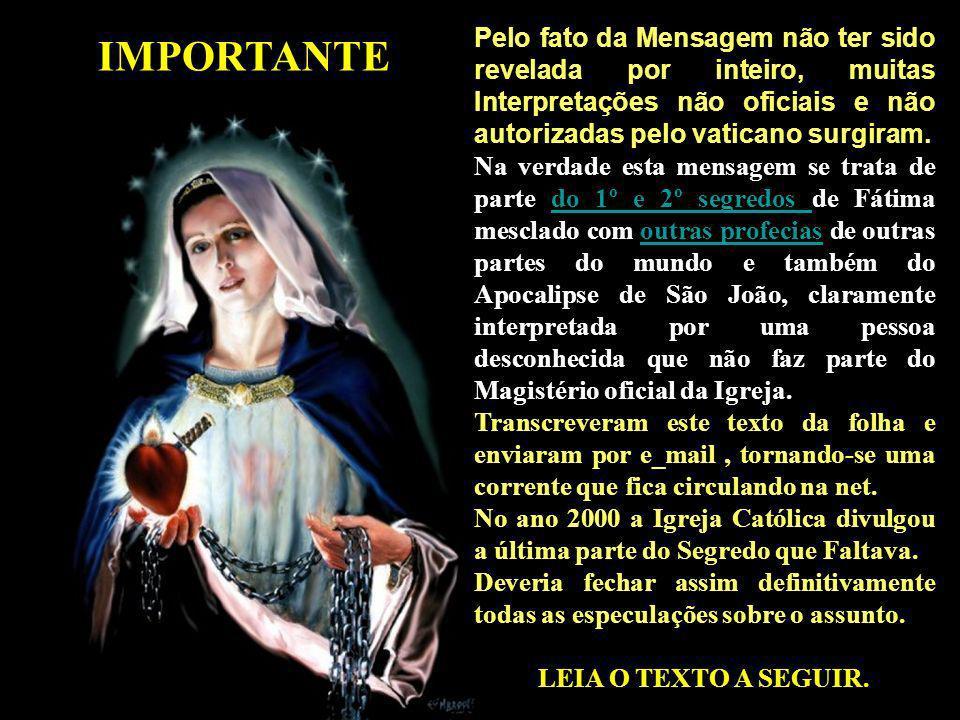 Pelo fato da Mensagem não ter sido revelada por inteiro, muitas Interpretações não oficiais e não autorizadas pelo vaticano surgiram.