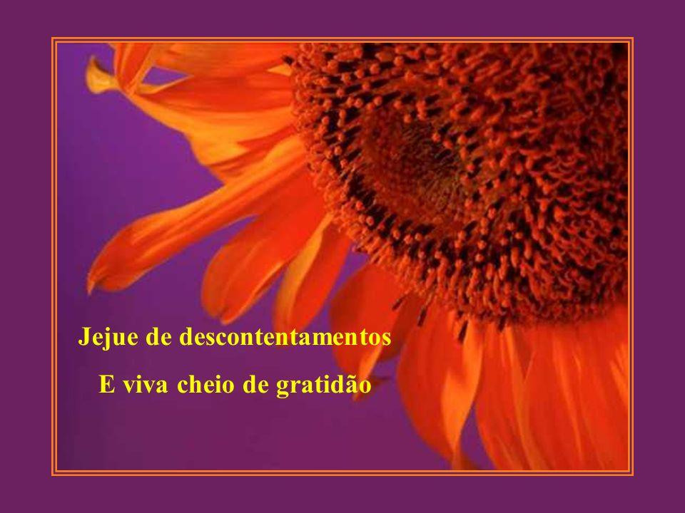 Jejue de descontentamentos E viva cheio de gratidão