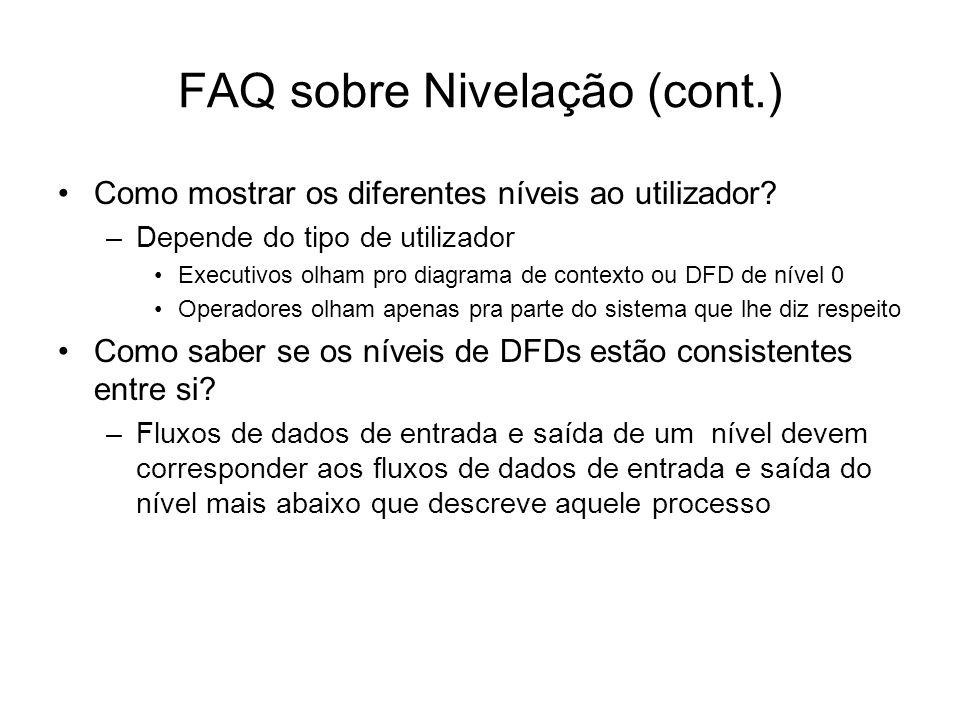 FAQ sobre Nivelação (cont.)