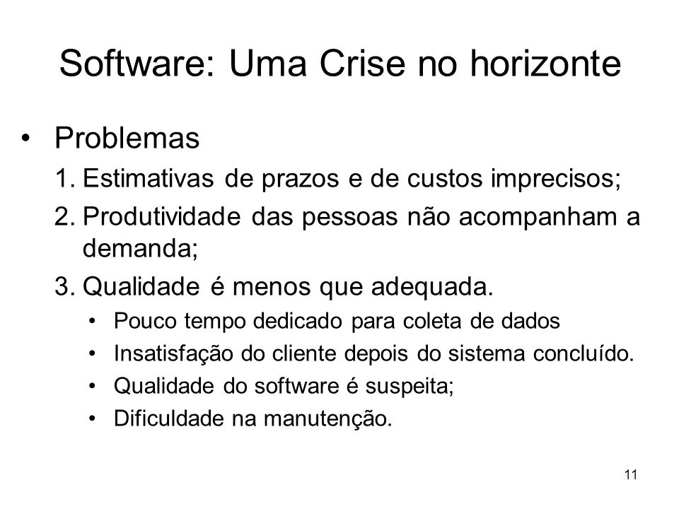 Software: Uma Crise no horizonte