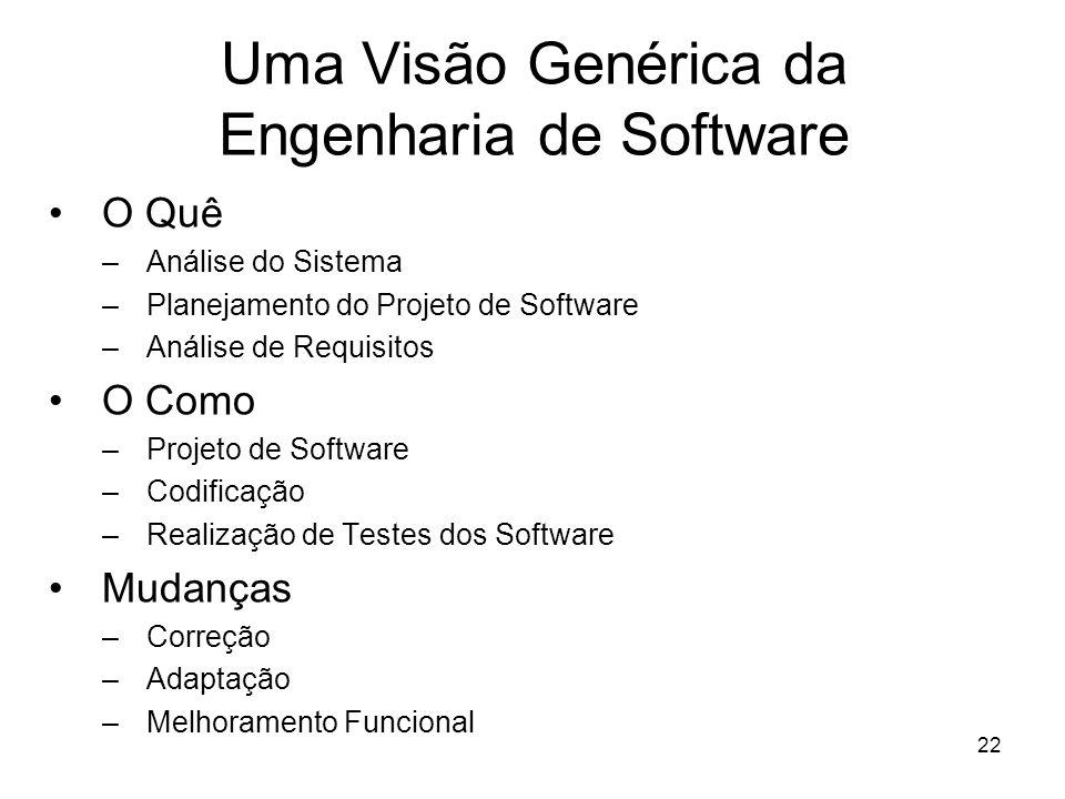Uma Visão Genérica da Engenharia de Software