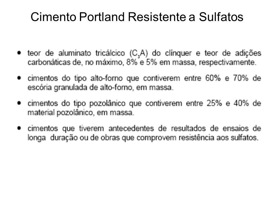 Cimento Portland Resistente a Sulfatos