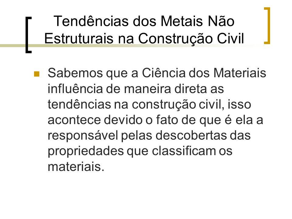 Tendências dos Metais Não Estruturais na Construção Civil
