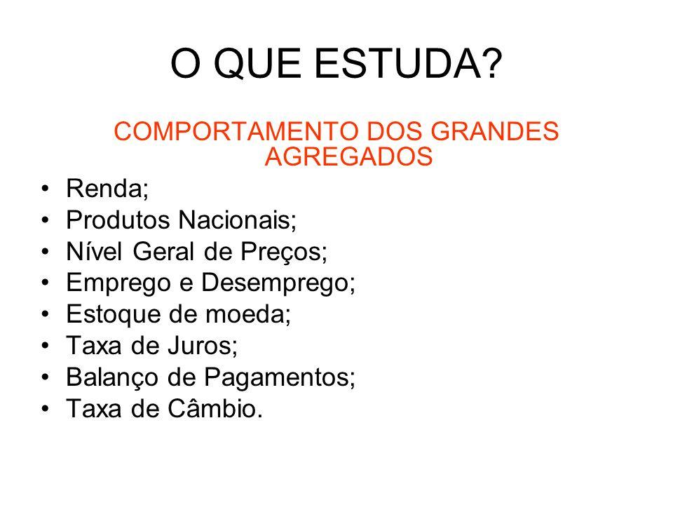 COMPORTAMENTO DOS GRANDES AGREGADOS